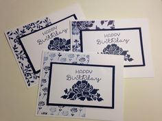 Floral Phrases, Floral Bouquet, Birthday Card, Stamp a Stack, Stampin' Up!, Rubber Stamping, Handmade Card
