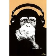Amazon.com: Steez (Headphone Chimp) Art Poster Print - 24x36 Poster Print by Steez , 24x36: Home & Kitchen - only $4.95