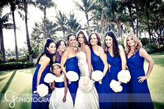 Royal Blue Bridesmaids Dresses, great with ice blue wedding dress