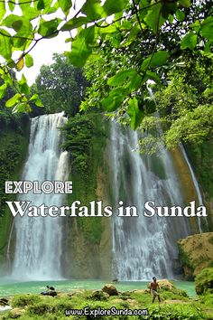 Explore the many magnificent waterfalls in the land of Sunda: Curug Cikaso, Curug Cilember, Curug Cimahi (the Rainbow Waterfall), Curug Cibogo, etc. | #ExploreSunda Rainbow Waterfall, Small Waterfall, Canyon Stone, Favorite Pastime, Beautiful Waterfalls, Top Destinations, Places Of Interest, The Visitors, Most Favorite