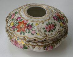 Antique Ceramic Hair Receiver Jar