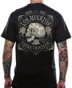 b4b7177e1f8 The DEAD SKULL short sleeve tee is made with a 6.1 ounce 100% soft-spun  cotton tee with a 1x1 rib knit collar