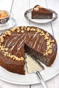 Makowiec bez mąki Polish Desserts, Polish Recipes, Gluten Free Deserts, Foods With Gluten, Poke Cakes, Lava Cakes, Gingerbread Cake, Classic Desserts, Pavlova
