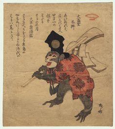 Shinsai (circa 1764 - 1823) - Monkey Surimono