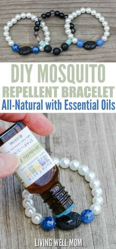 Mosquito Repellent Bracelet with Essential Oils Tired of those pesky bugs ruining your outdoor time? Discover how to make this super easy DIY Mosquito Repellent Bracelet and repel mosquitoes naturally using essential oils!Tired of those pesky bugs ruining Diy Mosquito Repellent, Mosquito Repellent Bracelet, Natural Mosquito Repellant, Insect Repellent, Young Living Oils, Young Living Essential Oils, Easy Crafts To Make, How To Make, Easy Diy