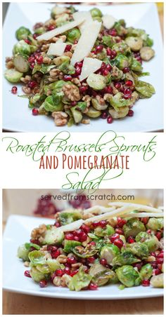 ... walnuts, sweet tart pomegranates, and topped with salty Parmesan