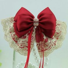 堆糖-美好生活研究所 Ribbon Hair Bows, Diy Hair Bows, Hair Bows For Sale, Garnet Wedding, Kids Hair Accessories, Boutique Hair Bows, Fancy Hairstyles, Cute Bows, Hair Piece