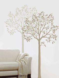 wall stencil - trees