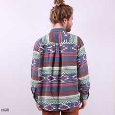 THAT SHIRT AND HAIR!! :D  Tribal Navajo Mens Flannel Shirt / Mens Gift / by BetaPorHomme, $36.00