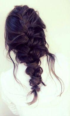 Messy french braid #gorgeoushair