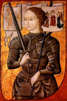 Saint Joan of Arc, cross-dressing warrior and patron saint whose feast day is May 30th -- and who at age 17 led the medieval French army to victory.