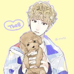 "minghao fanart svt"" Soooo alike to him Seventeen The8, Seventeen Debut, Woozi, Jeonghan, Kpop Drawings, Seventeen Wallpapers, T Art, Korean Art, Golden Child"