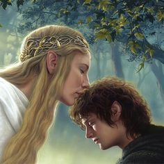 """3,867 Likes, 20 Comments - Middle Earth / Tolkien Art (@immortal.tolkien) on Instagram: """"Galadriel and Frodo  . . . . One ring to rule them all  #mordor #lotr #lordoftherings #tolkien…"""""""