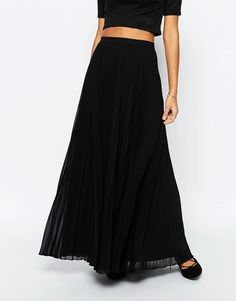 Image 4 of ASOS Pleated Maxi Skirt