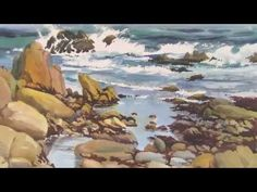 How to paint a seascape in watercolor - Painting Lesson 4 - YouTube