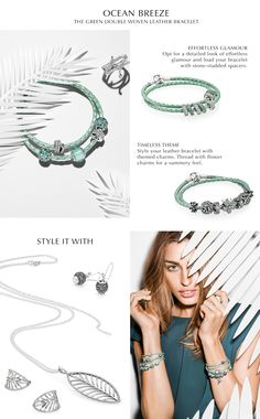 In PANDORA Magazine you can find inspiration for how to style the new mint green woven leather bracelet. #PANDORAstyle