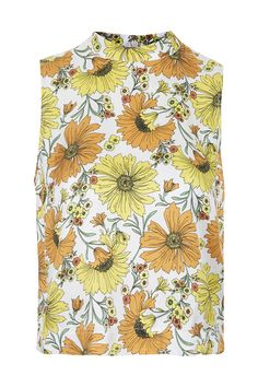 Photo 1 of Daisy High Neck Shell Top 70s Fashion, Fashion Beauty, High Street Trends, Future Clothes, Shell Tops, Topshop Tops, Summer Essentials, Cute Pattern, Top Sales