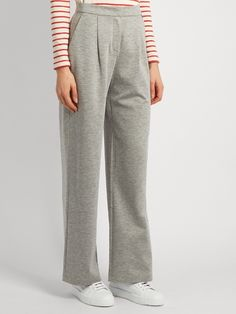Weekend Max Mara Wide-leg jersey trousers