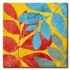 23_KE_SQ_090B1 / Cuadro Flores, Plantas de Colores