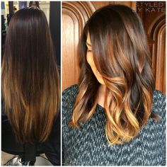 """#TBT to my ModernSalon.com feature & favorite transformation. This was the year of """"lob""""! Chop chop. ✂️ #StyledByKate"""