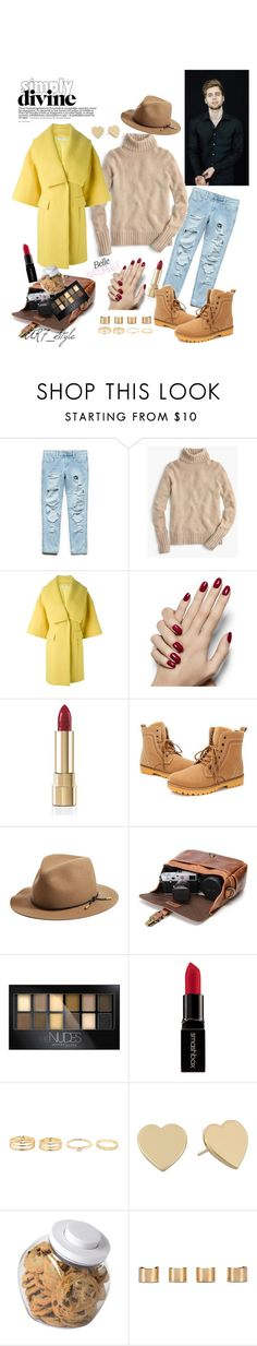 """""""Warm kiss of the sun🌞 I Love it 💛"""" by arega-mirzabekyan ❤ liked on Polyvore featuring Forever 21, J.Crew, Versace, Dolce&Gabbana, rag & bone, Maybelline, Smashbox, Kate Spade, OXO and Maison Margiela"""