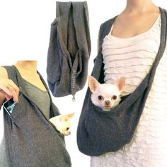 """Looking for the best travel pet dog sling front pouch carriers that don't scream """"DOG CARRIER""""? So was HEART PUP founder Anastasia. Determined to create a hands-free dog carrier that wouldn't ruin her"""