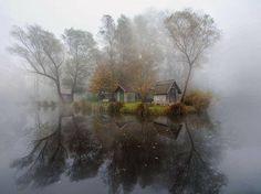 Mysterious, abandoned Hungarian lake village