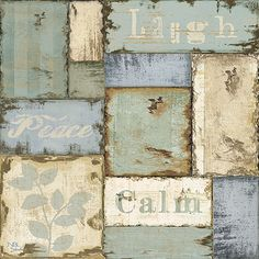 Inspirational Patchwork III from NBL Studio collection Canvas Print #9577