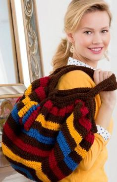 Phat Fat Bag Free Crochet Pattern from Red Heart Yarns