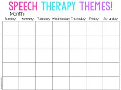 Speech Therapy Themes… with a Freebie!