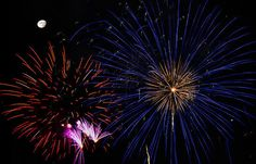 Penny Lisowski - Watching Red and Blue Starbursts - Fireworks
