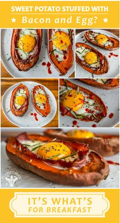 Approximate macros for 1 serving with 1 slice turkey bacon and ~200g sweet potato: 295 calories,17g protein, 41g carbs, 7g fat, 7g fiber, 17g sugar #breakfast #recipe #sweetpotato #eggs #bacon #weightloss