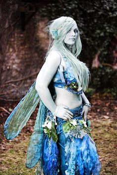 Pymphie the pixie-nymph by ~hippiegothelfe on deviantART.  I'd love to do a makeup like this.
