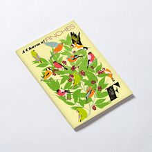 A Charm of Finches Notebook + other other animal-themed notebooks like A Hum of Bees, A Murder of Crows, A Skulk of Foxes, A Concentration of Kingfishers, A Parliament of Owls, a Murmuration of Starlings, and A Zeal of Zebras