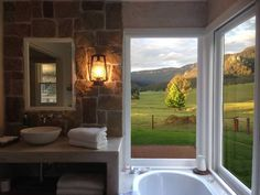 Private, luxurious bathroom with amazing views: Springview Retreat - secluded, romantic getaway in Kangaroo Valley Sounds Of Birds, Holiday Accommodation, Weekends Away, Romantic Places, Romantic Getaway, Kangaroo, Cottage, Australia, Rustic