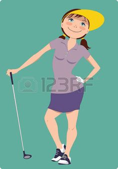 Cute cartoon golfer girl standing with a golf club, vector illustration Ladies Golf Clubs, Best Golf Clubs, Best Golf Irons, Golf Cart Accessories, Golf Training Aids, Woods Golf, Golf Exercises, Girl Standing, Sports