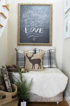 City Farmhouse-Creating A Nook from Vintage Crate-Art Lindsey Letters