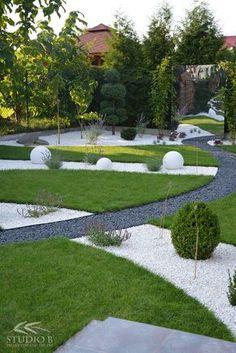 Modern garden   Poland   Studio B Dream Garden, Garden Art, Small Garden Design, Plan Design, Front Yard Landscaping, Garden Inspiration, Golf Courses, Sidewalk, Landscape