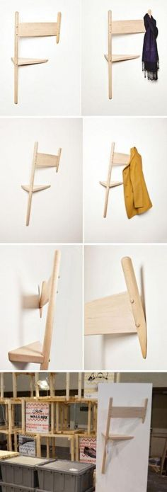 chaise porte manteau