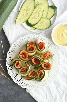 'Sushi' Cucumber Salmon Roll-ups – Sizzlefish