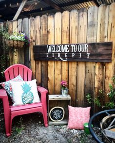 Welcome to our fire pit painted sign on redwood. Not signs, heir… Fire pit goals. Welcome to our fire pit painted sign on redwood. Not signs, heirlooms. Fire Pit Paint, Diy Fire Pit, Fire Pit Landscaping, Landscaping With Rocks, Outdoor Fire, Outdoor Decor, Outdoor Ideas, Outdoor Living, Outside Fire Pits