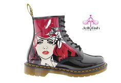 Studio Jellyfish hand painted DR. MARTENS