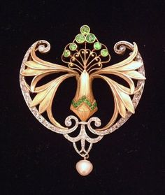 Georges Fouquet ~ Beautiful Art Nouveau styling on this brooch ~ NMB ~