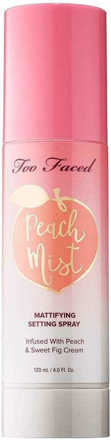 Too Faced Peach Mist Mattifying Setting Spray Peaches and Cream Collection