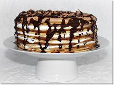 Mogyorókrémes-tejszínhabos palacsintatorta - Egyéb - RC News Crepe Cake, Mille Crepe, Cakes And More, Tiramisu, Oreo, Food Porn, Food And Drink, Favorite Recipes, Sweets