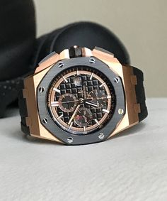 Piguet Watch, Audemars Piguet, Watches, Mens Clothing Styles, Casio Watch, Chronograph, Goodies, Rose Gold, Luxury