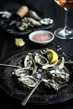 Oysters with Sparkling Rosé Mignonette — Up Close & Tasty