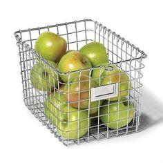 Amazon.com - Spectrum 47970 Medium Storage Basket, Chrome - Home Storage Baskets - Small $19.99, Medium $14.88