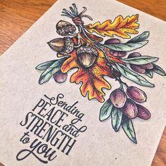 Olive and Oak stamp set by Power Poppy card design by Elizabeth Zaffarano