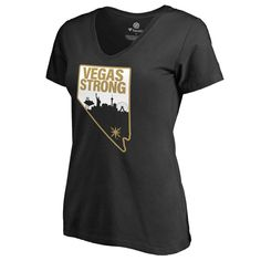 0c6d055e2 Women s Fanatics Branded Black Vegas Golden Knights Vegas Strong V-Neck T-Shirt  Las
